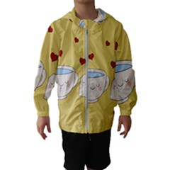 Cute Tea Hooded Wind Breaker (kids)