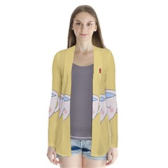 Cute Tea Drape Collar Cardigan