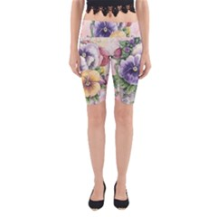 Lowers Pansy Yoga Cropped Leggings