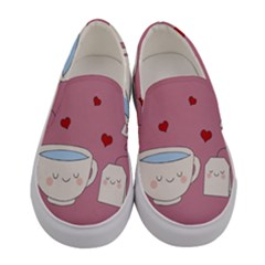 Cute Tea Women s Canvas Slip Ons