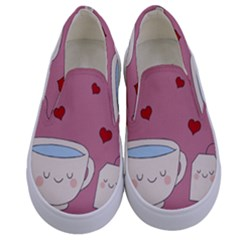 Cute Tea Kids  Canvas Slip Ons