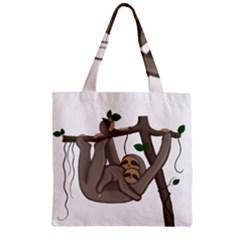 Cute Sloth Zipper Grocery Tote Bag
