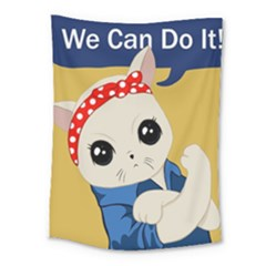 Feminist Cat Medium Tapestry