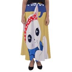Feminist Cat Flared Maxi Skirt