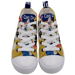 Feminist Cat Kid s Mid Top Canvas Sneakers