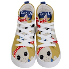Feminist Cat Kid s Hi Top Skate Sneakers