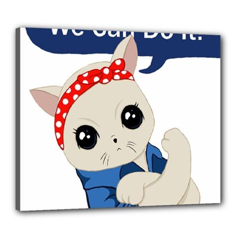 Feminist Cat Canvas 24  X 20