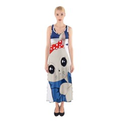 Feminist Cat Sleeveless Maxi Dress