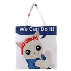 Feminist Cat Grocery Tote Bag