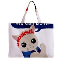 Feminist Cat Mini Tote Bag