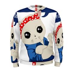 Feminist Cat Men s Sweatshirt