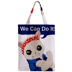 Feminist Cat Zipper Classic Tote Bag