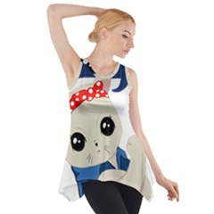 Feminist Cat Side Drop Tank Tunic