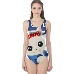 Feminist Cat One Piece Swimsuit