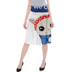 Feminist Cat Midi Beach Skirt