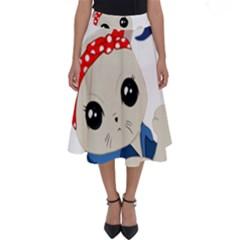 Feminist Cat Perfect Length Midi Skirt