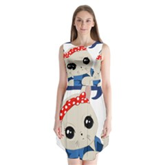 Feminist Cat Sleeveless Chiffon Dress