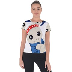Feminist Cat Short Sleeve Sports Top