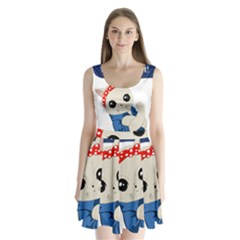 Feminist Cat Split Back Mini Dress