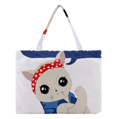 Feminist Cat Medium Tote Bag