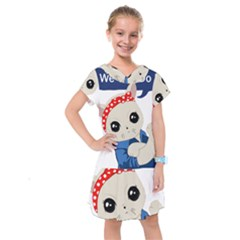 Feminist Cat Kids  Drop Waist Dress