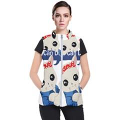 Feminist Cat Women s Puffer Vest