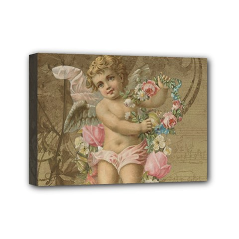 Cupid   Vintage Mini Canvas 7  X 5