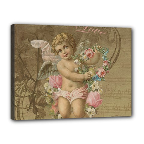 Cupid   Vintage Canvas 16  X 12