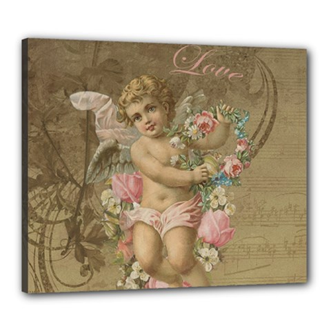 Cupid   Vintage Canvas 24  X 20