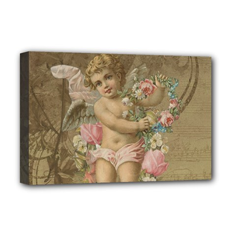 Cupid   Vintage Deluxe Canvas 18  X 12