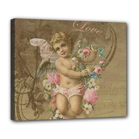 Cupid   Vintage Deluxe Canvas 24  X 20