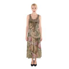 Cupid   Vintage Sleeveless Maxi Dress