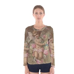 Cupid   Vintage Women s Long Sleeve Tee