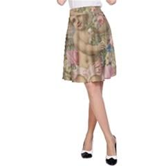Cupid   Vintage A Line Skirt