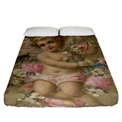 Cupid   Vintage Fitted Sheet (king Size)