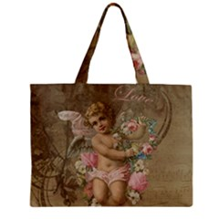 Cupid   Vintage Zipper Mini Tote Bag