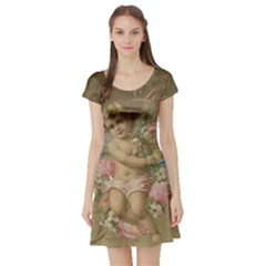 Cupid   Vintage Short Sleeve Skater Dress