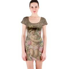 Cupid   Vintage Short Sleeve Bodycon Dress