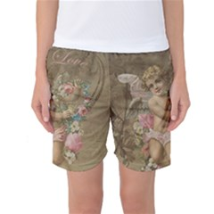 Cupid   Vintage Women s Basketball Shorts