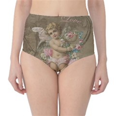 Cupid   Vintage High Waist Bikini Bottoms