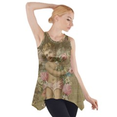 Cupid   Vintage Side Drop Tank Tunic