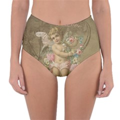 Cupid   Vintage Reversible High Waist Bikini Bottoms