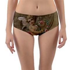 Cupid   Vintage Reversible Mid Waist Bikini Bottoms