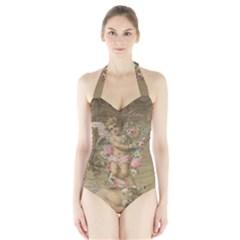 Cupid   Vintage Halter Swimsuit