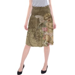 Cupid   Vintage Midi Beach Skirt
