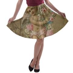 Cupid   Vintage A Line Skater Skirt