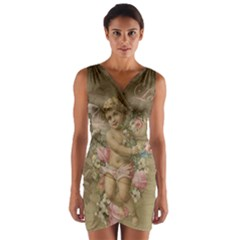 Cupid   Vintage Wrap Front Bodycon Dress