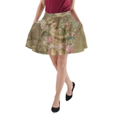 Cupid   Vintage A Line Pocket Skirt