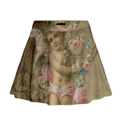 Cupid   Vintage Mini Flare Skirt