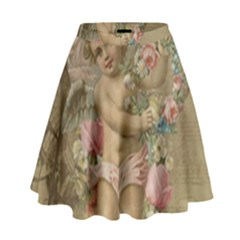 Cupid   Vintage High Waist Skirt